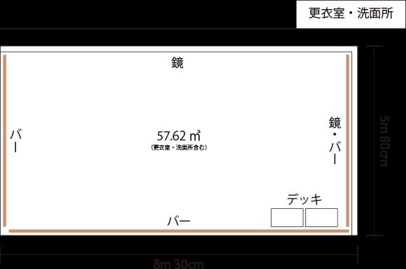 M Studio レンタルスタジオ設備 間取り図